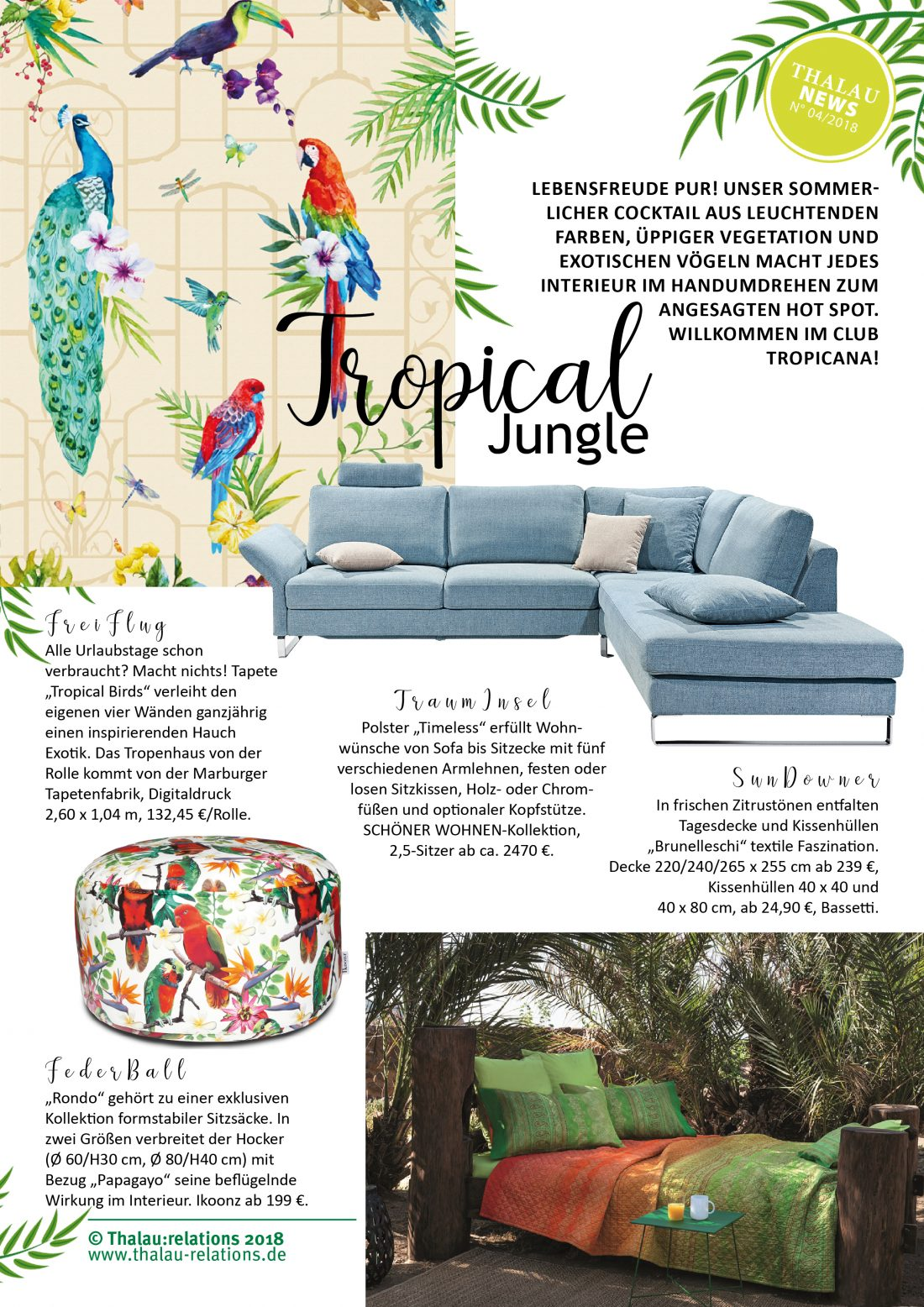Thalau Newsletter Tropical Jungle Mai 2018